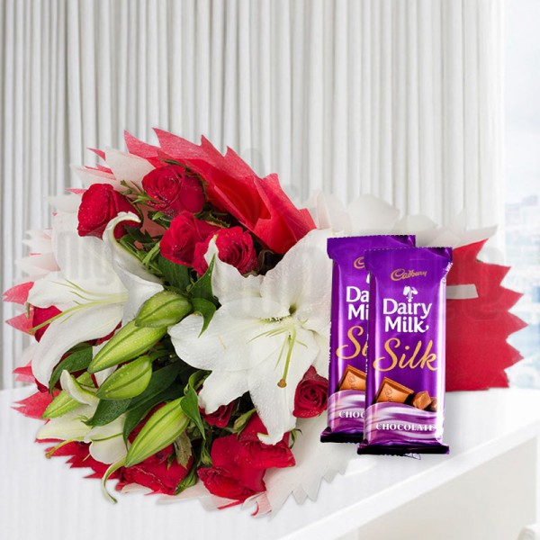 Oriental Lily Chocolate Bunch